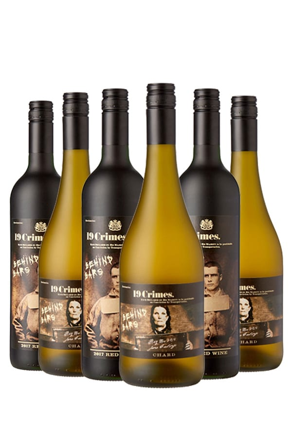 19 Crimes Chardonnay & Red Wine mix – 6 flessen