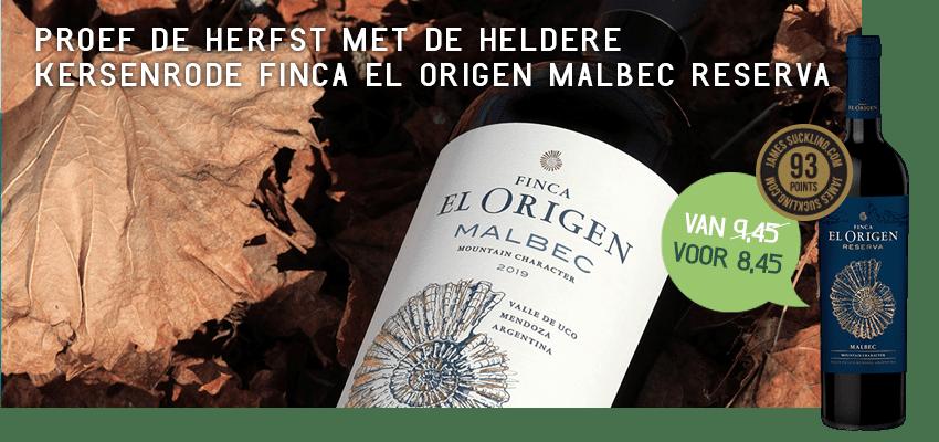 Finca el Origen Malbec Reserva | Wijnbroeders