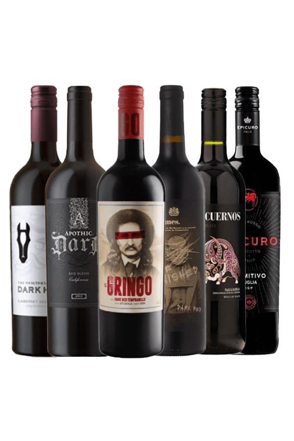 Hallowine wijnpakket Dark Red