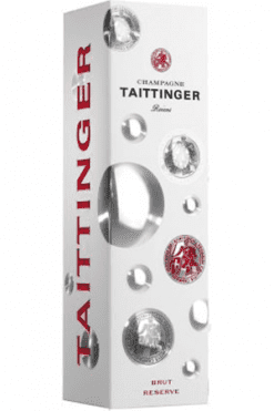 CHAMPAGNE TAITTINGER BRUT RÉSERVE BUBBLY IN GIFTPACK