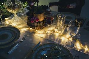 Wijn bij het kerstdiner