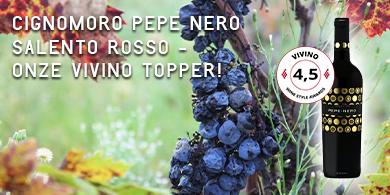 Cignomoro Pepe Nero Salento Rosso   Wijnbroeders